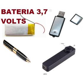 Bateria 3.7v Para Caneta; Botão; Pen Driver Áudio Espião