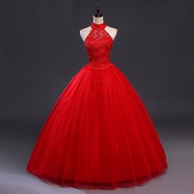 Vestido De Noiva Vermelho 34 36 38 40 42 44 46 48 - Vs00184