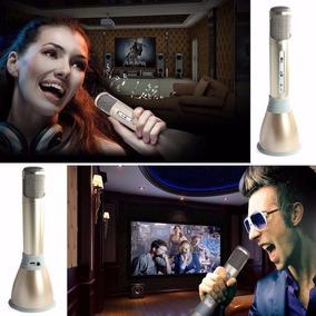 Microfone Sem Fio Bluetooth Com Alto Falante Embutido