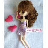 Roupa Para Boneca Blythe + Sapato * Lingerie Camisola * 12