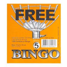 Cartela De Bingo Jornal 100 Folhas - 15 Unidades Free