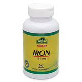 Iron 136 Mg 60 Tablets - Essential Mineral - Transport Ox