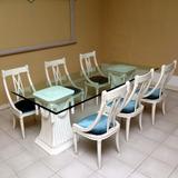 Juego De Comedor Blanco Muebles Mary