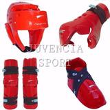Combo Sparring Cabezal + Guante + Zapato + Tibial Taekwondo