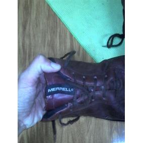 Zapatillas Cuero Bordó Merrell 37-unisex.suela Febo
