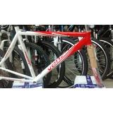 Cuadro Aluminio Venzo Ruta Talle M Rojo/blanco , Negro/blanc