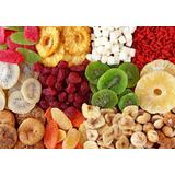 Mix De Frutas Desidratadas +1kg De Castanha De Caju Caramel