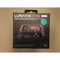Apple Watch Lunatik Epik 1y2 42mm 100% Or. Aluminio Y Piel