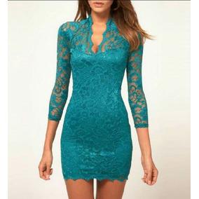 Vestido Azul Stretch
