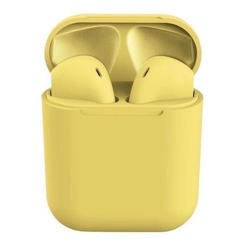 Audífonos In-ear inalámbricos i12 TWS amarillo