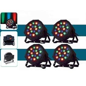 Pack X 4 Par Led Proton Tacho Rgb Dj Dmx Profesional 18 Leds