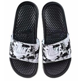 Nike Benassi Jdi Print Black/white - Mujer