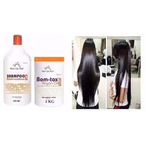 Boto-x Capilar 1kg New Liss Hair Alisa E Reduz+shampoo 300ml