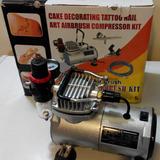 Mini Compresor Tortas/uñas + Aerografo + Manometro 1/5 Hp