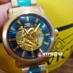 Relógio Invicta Vintage Automatico 22575 Original Fundo Azul