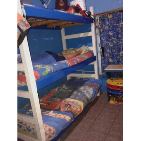 Cama Triple De Algarrobo Masisa Impecable!!
