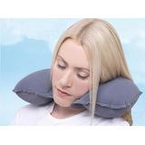 Travesseiro Almofada De Pescoço Inflável Para Viagem Camping