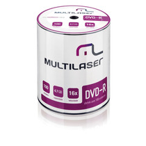 Mídia Dvd-r Velocidade 16x Pino 100 Shrink Dv037 Multilaser