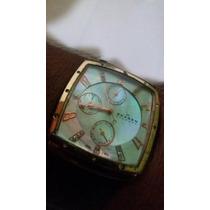 Reloj Chapado Oro Rosado Swarovski Nacar Quartz Scagen Joya