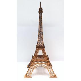 Torre Eiffel 61cm. Modelo X Escala Reál De París En Mdf