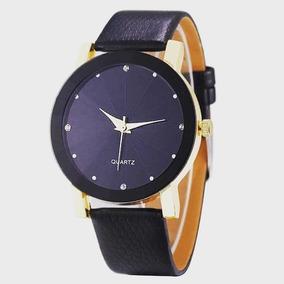11fbf0b5bae Relogio Feminino Couro Brilhante - Relógios no Mercado Livre Brasil
