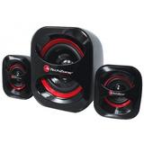 Mp Bocina Stereo 2.1 Techzone Negro Con Rojo Tzspk2.1