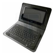 Funda Con Teclado Inalámbrico Para Tablet 7/8 Eco Cuero Cba