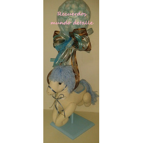 Centro De Mesa Bautizo Baby Shower Caballito Cumpleaños
