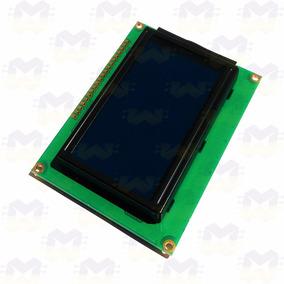 Display Lcd Gráfico 128x64 P/ Arduino - Fundo Azul
