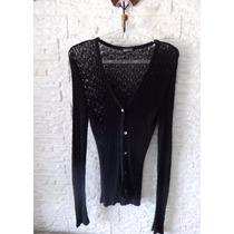 Blusinha Casaco De Croche Tricot Tam P Marca Mng Importada