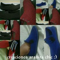 Zapatos,mocasines,alpargata.tejidos A Mano Y Unicos De Color
