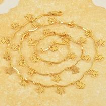 Cadena De Mariposa Bañada En Oro De 14 K