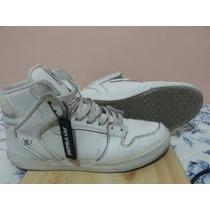 Zapatos Supra. Botines Blancos Talla 42.5