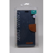 Funda Galaxy S8 Mercury Goospery Canvas Diary Navy