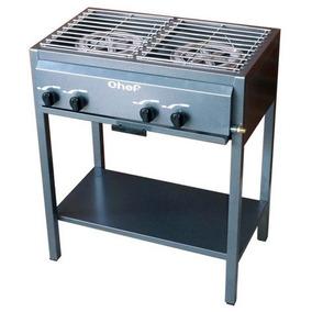 Estufa Chef 2 Quemadores De Gas Sin Alacena Acero Cr Nuevos