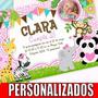Kit Imprimible Personalizado Animalitos Selva Jungla Nena Ca