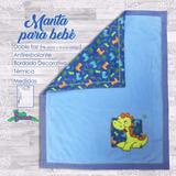 Manta Colcha Cobija Cobertor Para Bebe Cuna Coche Bordado