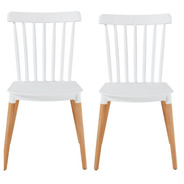 Silla Windsor Pata Madera Pack Combo 2 Unid - Outlet