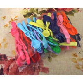 Cucharas Platica P/colgar X 100 Unidades Colores Surtidos