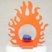 Topper Topo De Bolo Hot Wheels Aro De Fogo 3d  Personalizado