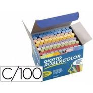 200 X Giz Escolar Giotto Robercolor Branco + Color Antialérg