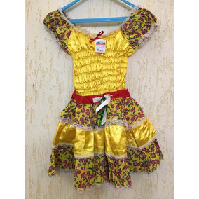 Vestido De Festa Junina Caipira Infantil 10 Lindo