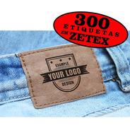 Etiquetas P/ Calças Bolsas 300 Un Personalizado Com Sua Logo