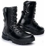 Coturno Policial Bota Rossi Boot Militar Segurança Com Ziper