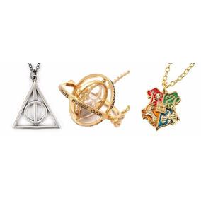 Kit Harry Potter Vira-tempo + Hogwarts + Relíquias Da Morte