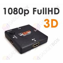 Hub 3 Portas Hdmi Amplificador Sky Net Gvt Receptor Decoder