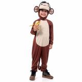 Fantasia Macaco Tamanho P|3 Animais Da Floresta - Original