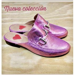 Zuecos Suecos Zapatos Slippers Loafers Metalizados
