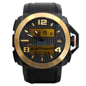 Relógio Masculino Quiksilver Molokai Black Gold