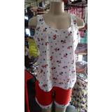 Pijama Feminino Adulto 1 Unidade Malha 100% Algodão